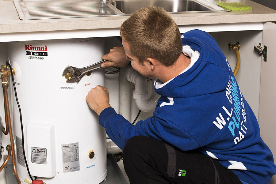 Replacement electric or gas hot water units
