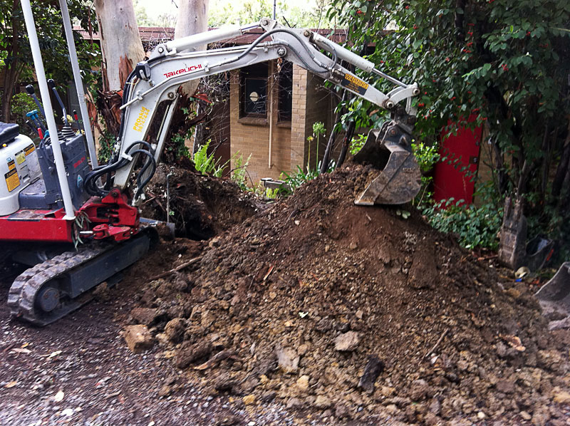 Our excavators can work in the smallest back yards
